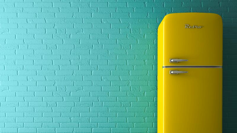 best retro fridge